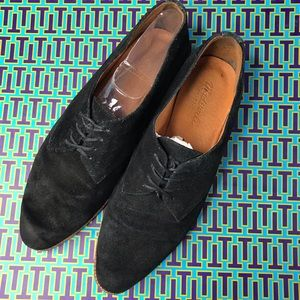 Madewell Black Suede Oxfords Lace Up Shoes Cute!
